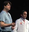 UF Neurosurgeon Kelly Foote with Neurologist Michael Okun
