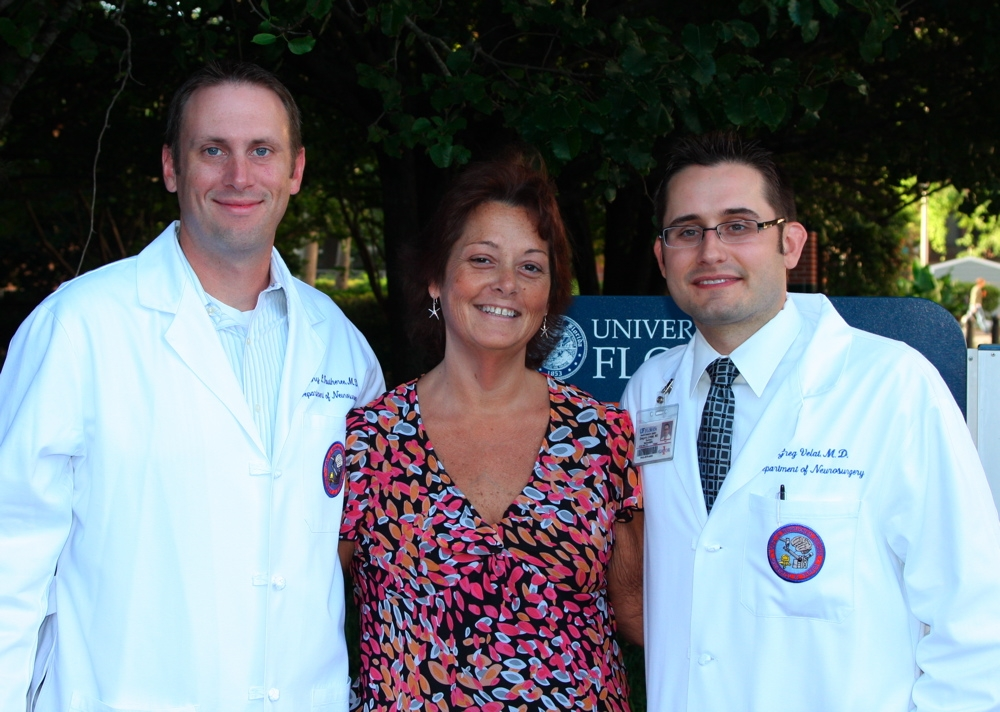 Photo: Dr. Gregory Fautheree, Melissa Ogle and Dr. Gregory Velat
